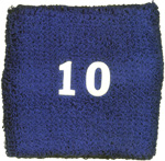 Blue Wristband with number 10